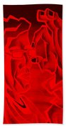 E Vincent Negative Red Beach Towel