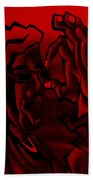 E Vincent Red Beach Towel