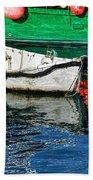 E17 Reflections - Lyme Regis Harbour Beach Towel
