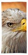 Eagle At Sunset Beach Towel