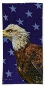 Eagle In The Starz Beach Towel