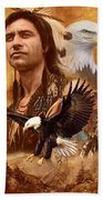 Eagle Montage Beach Towel