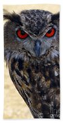 Eagle Owl Beach Towel