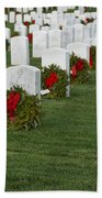 Eagle Point National Cemetery At Christmas Beach Towel