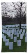 Eagle Point National Cemetery In Winter 1 Beach Towel