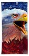 Eagle Red White Blue 2 Beach Towel