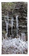 Eagle Rock Icicles 2 Beach Towel