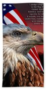 Eagle With Pledge Allegiance Beach Towel