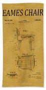 Eames Chair Patent 1 Beach Towel