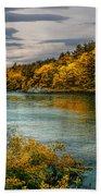 Early Autumn Along The Androscoggin River Beach Towel
