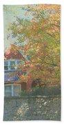 Early Autumn Home Beach Towel