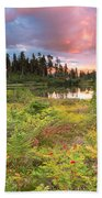 Early Autumn Meadow Sunset At Mt Baker Beach Towel