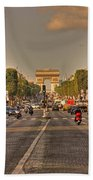 Early Morning Champes Elysees  Beach Towel