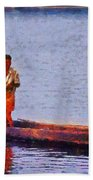 Early Morning Fishing In India Beach Towel