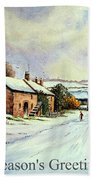 Early Morning Snow Christmas Cards Beach Towel by Andrew Read