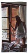 Early Morning Villa Mallorca Beach Towel by Gillian Furlong