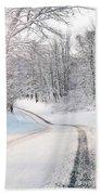 Early Morning Winter Road Beach Sheet