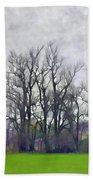 Early Spring Landscape  Digital Paint Beach Towel