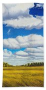 Early Summer Clouds Beach Towel