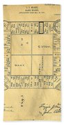 Early Version Of Monopoly Board Game Patent Beach Towel
