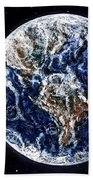 Earth Beauty Original Acrylic Painting Beach Towel