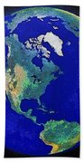 Earth From Space America Beach Towel