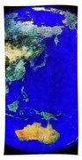 Earth Seen From Space Australia And Azia Beach Towel