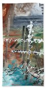 Earth Wind And Fire Abstract Painting Madart Beach Towel by Megan Duncanson