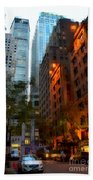 East 44th Street - Rhapsody In Blue And Orange Beach Sheet