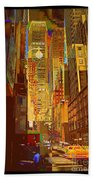 East 45th Street - New York City Beach Towel