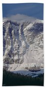 1m3743-east Face Mt. Kitchener With Cloud Beach Towel