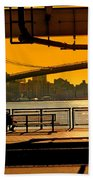 East River Sunset Beach Towel