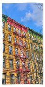 East Village Buildings On East Fourth Street And Bowery Beach Towel