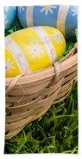 Easter Basket Beach Towel by Edward Fielding