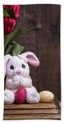 Easter Bunny Beach Towel by Edward Fielding