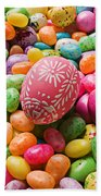 Easter Egg And Jellybeans  Beach Towel