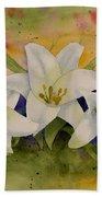 Easter Lilies Beach Towel