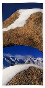 Eastern Sierras Through Snow Covered Arch Beach Towel
