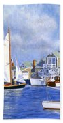 Easy Street Basin Blues Beach Towel by Candace Lovely