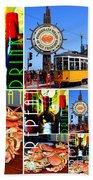 Eat Drink Play Repeat San Francisco 20140713 Vertical V2 Beach Towel