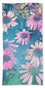Echinacea Flowers Beach Towel