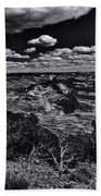Echo Park From The Ridge Black And White Beach Towel