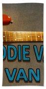 Eddie Van Halen Guitar Beach Towel