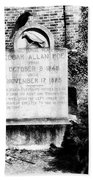 Edgar Allen Poe Grave Site Baltimore Beach Towel