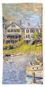 Edgartown  Martha's Vineyard Beach Towel by Colin Campbell Cooper