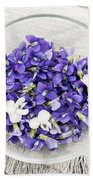 Edible Violets  Beach Towel
