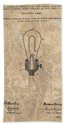 Edison Electric Lamp Patent Marble Beach Sheet