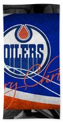 Edmonton Oilers Christmas Beach Towel