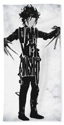 Edward Scissorhands - Johnny Depp Beach Towel