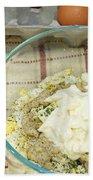 Egg Salad Ingredients Beach Towel